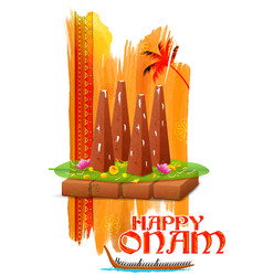 Decorated onathappan for Onam celebration vector