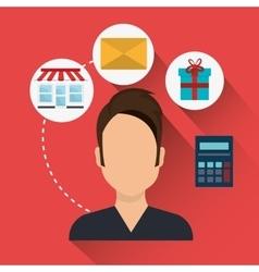 Digital marketing and online sales vector
