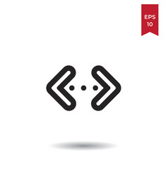 double arrow icon vector image