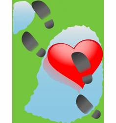 Downtrodden heart vector