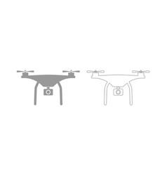 drone the grey set icon vector image