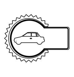 Emblem car side icon vector