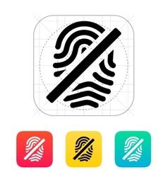 Fingerprint rejected icon vector image