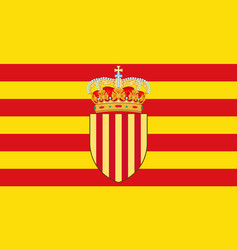 flag of catalonia of spain vector image