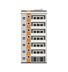 Flat apartment residental building vector
