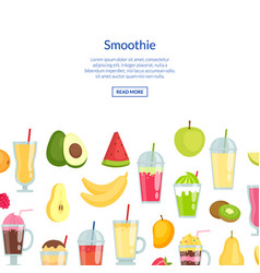 flat smoothie banner with place for text vector image