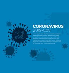 Flyer template with coronavirus information vector