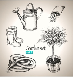 Garden set vector image