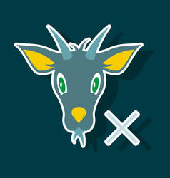 goat animal farm icon vector image vector image