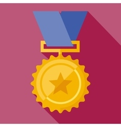 Golden medal vector
