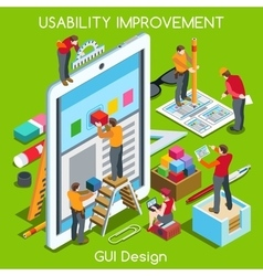GUI design 03 People Isometric vector