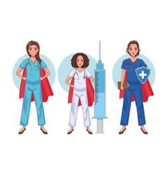 Hero nurses staff vector