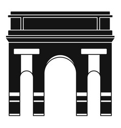historical arch icon simple style vector image