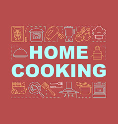 Home cooking word concepts banner personal chef vector