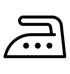 Iron high temperature icon outline style vector