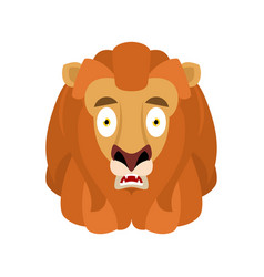 lion scared omg avatar emotion wild animal oh my vector image
