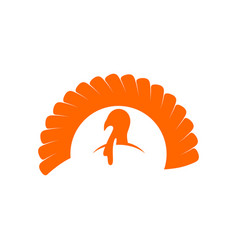 logo and symbol of a turkey for thanksgiving vector image