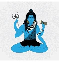 Lord Shiva Hindu gods Indian vector