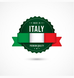 Made in italy premium quality label badge vector