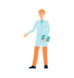 male doctor weared gown in hospital or medicine vector image