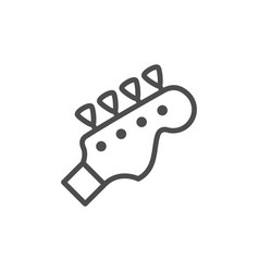 musical instrument bass guitar line outline icon vector image