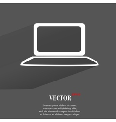 Notebook Flat modern web button with long shadow vector image