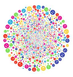 Pension smiley fireworks spheric cluster vector