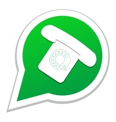 phone icon in bubble speech vector image