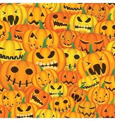 pumpkins seamless background vector image