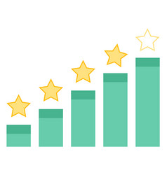 rating charts with growing info stars rate success vector image