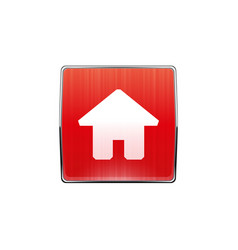 red button house icon vector image
