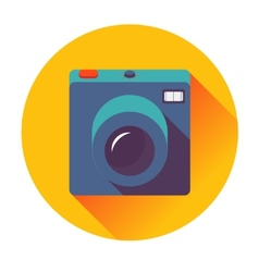 Retro cameral icon vector
