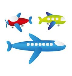 Set of cartoons of planes vector