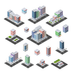 Set of isometric city vector