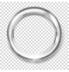 Silver metallic ring vector