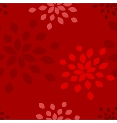Stylized flower seamless pattern vector image