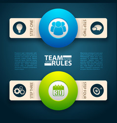 Team rules bands concept vector