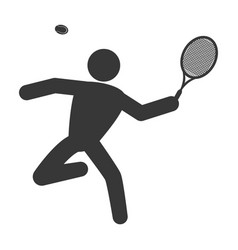 tennis player pictogram vector image