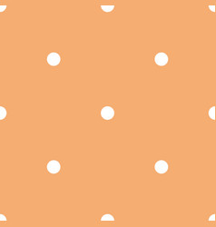 tile pattern with white polka dots on orange vector image