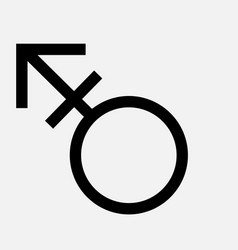 Transgender symbol thin line icon flat icon vector