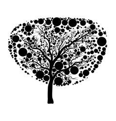 tree silhouette icon design isolated on white vector image