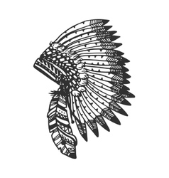 Tribal headband with feathers vector