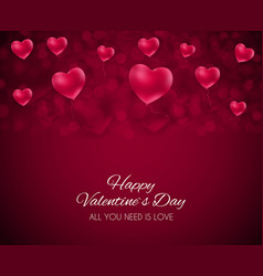 Valentine s day heart love and feelings background vector