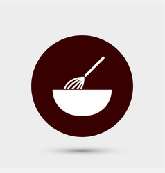 Whisk in bowl icon simple food element vector