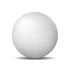 White round sphere or ball realistic matte pearl vector