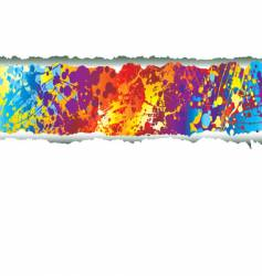 clean tear rainbow vector image vector image