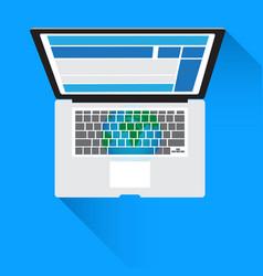 concept technology notebook computer social vector image