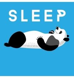 Fun card with a panda sleeping vector image