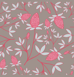lovely hand-drawn flower seamless pattern vector image vector image