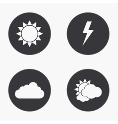 modern weather icons set vector image vector image